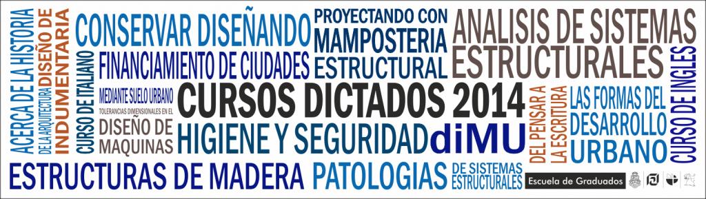 GRAFICA CURSOS DICTADOS 2014